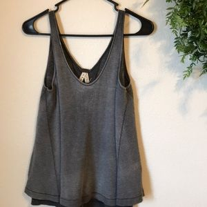FP WE THE FREE thermal butterfly hem tank